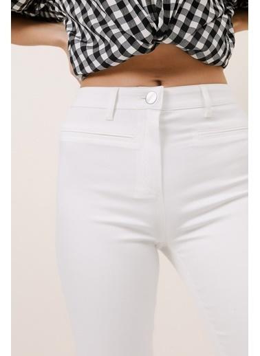 Gusto Power Streç Pantolon - Beyaz Power Streç Pantolon - Beyaz Beyaz